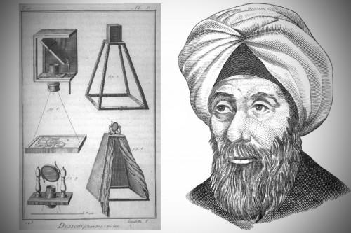 La cámara estenopeica inventada por Ibn al-Haytham (Alhacén) y una recreación que cómo fue