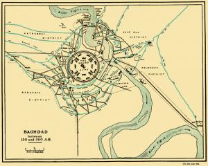 La casa de la sabiduría estaba dentro de la Ciudad redonda de Bagdad