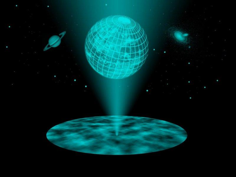 El principio holográfico propone que el universo puede verse como una estructura de información bidimensional proyectada, algo que aparece en el Corán