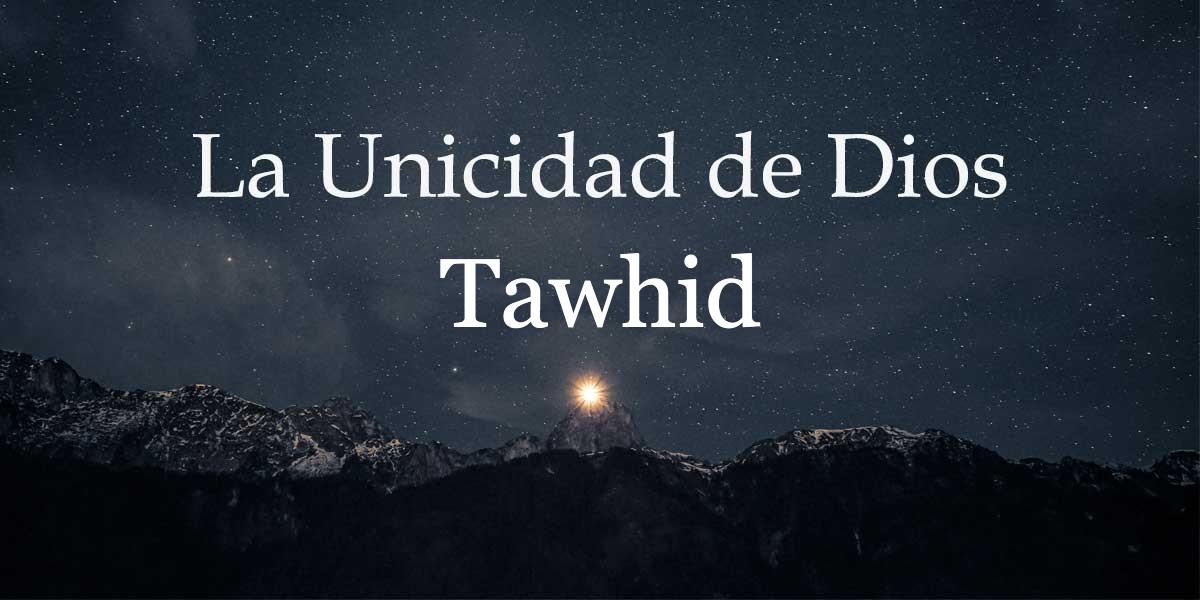 El Tawhid es el fundamento del Islam, y de todas la religiones anteriores, y su esencia es reconocer que no hay Dios más que Uno y que Él es el único agente activo en el universo.